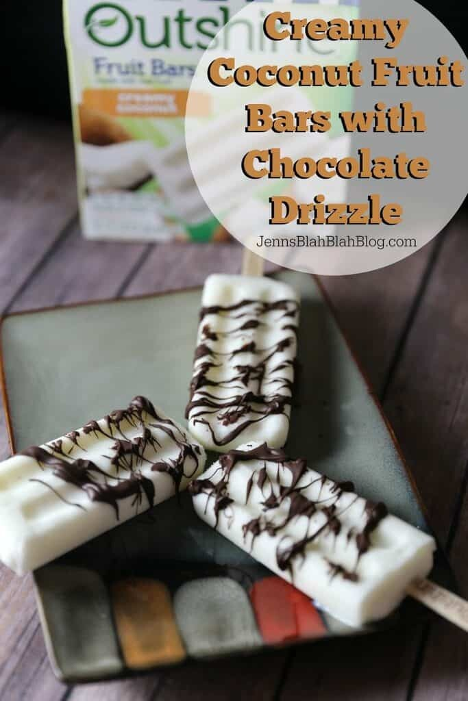 Creamy Coconut Fruit Bars with Chocolate Drizzle