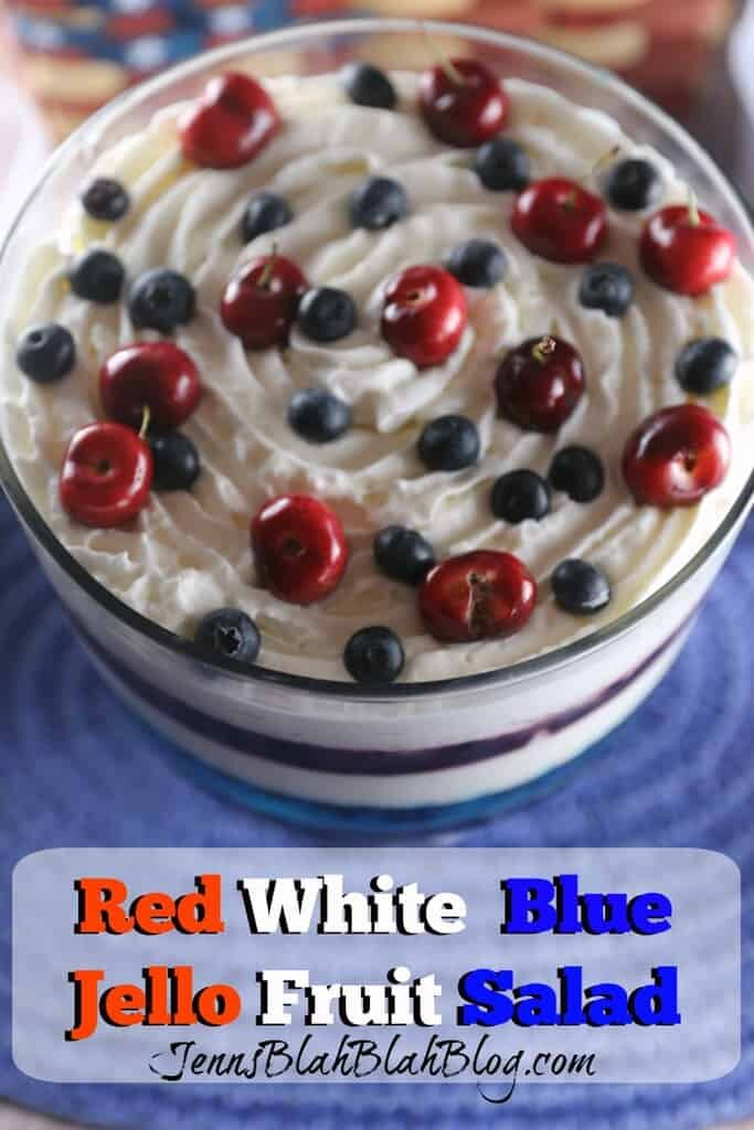 Red White & Blue Jello Fruit Salad