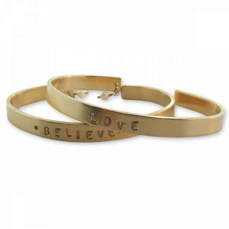 Isabelle Grace Thin Message Cuff