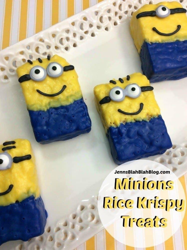 Minions Rice Krispy Treats