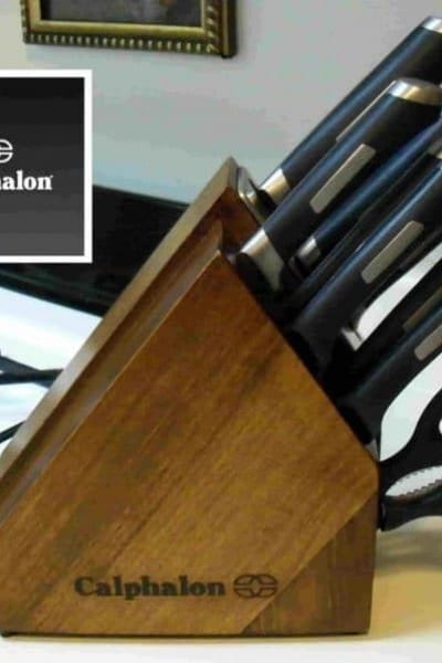 Calphalon's Precision Space-saving Self-sharpening Knife Block Set.