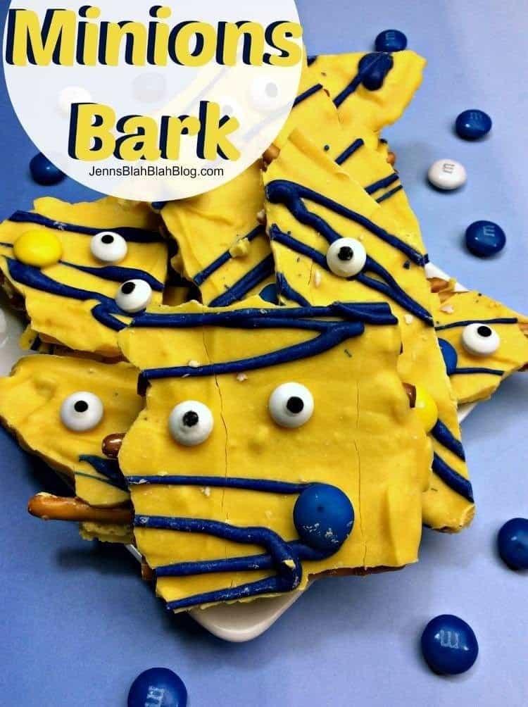 Quick & Easy Minions Pretzel Bark Recipe
