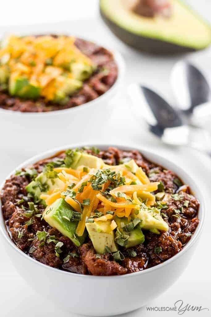 Low Carb Chili Recipe in an Instant Pot or Crock Pot
