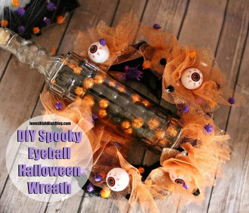 DIY Spooky Eyeball Halloween Wreath