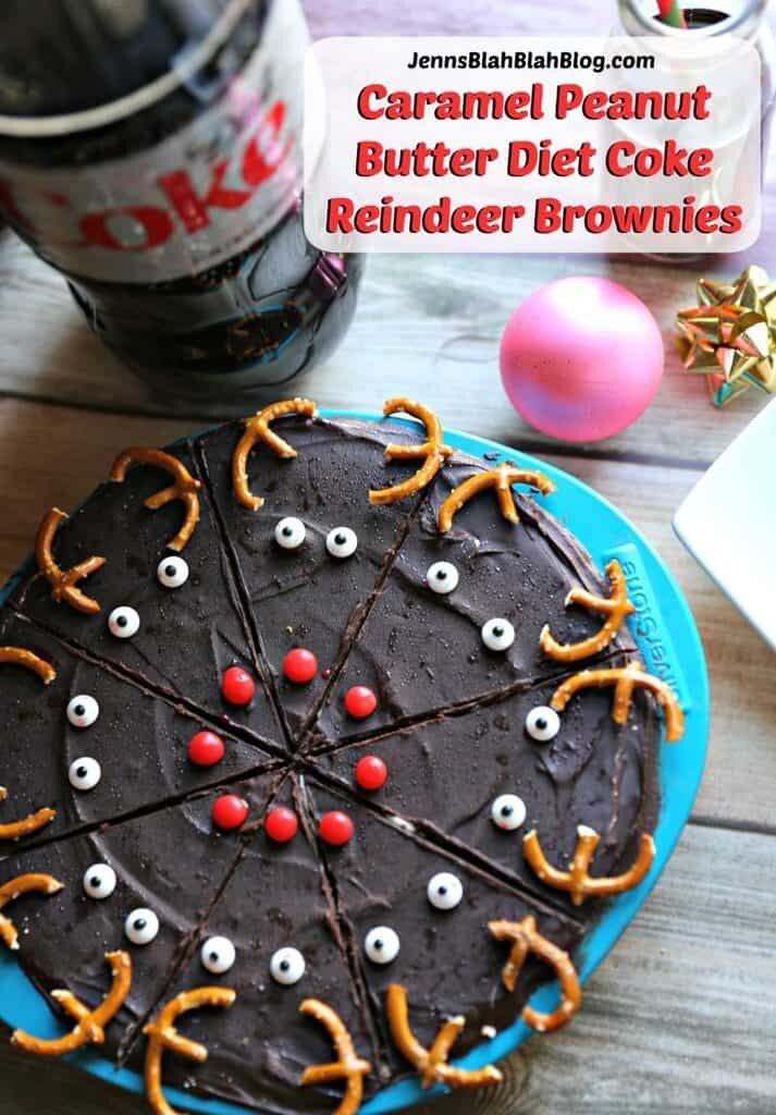 Caramel Peanut Butter Diet Coke Reindeer Brownies Recipe
