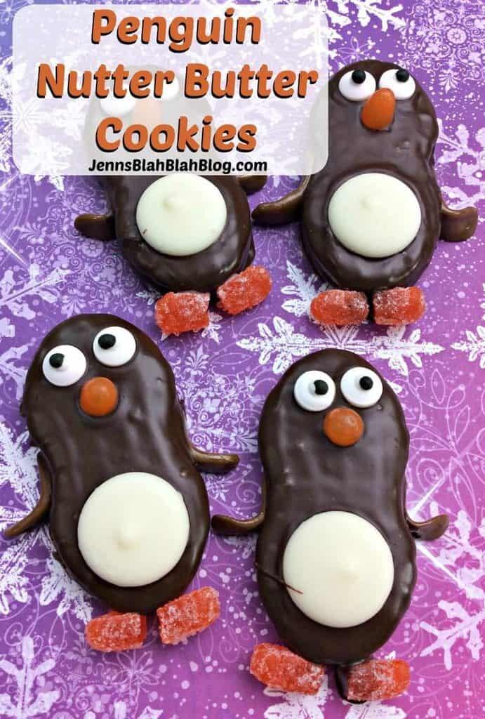 Cute Penguin Nutter Butter Cookies