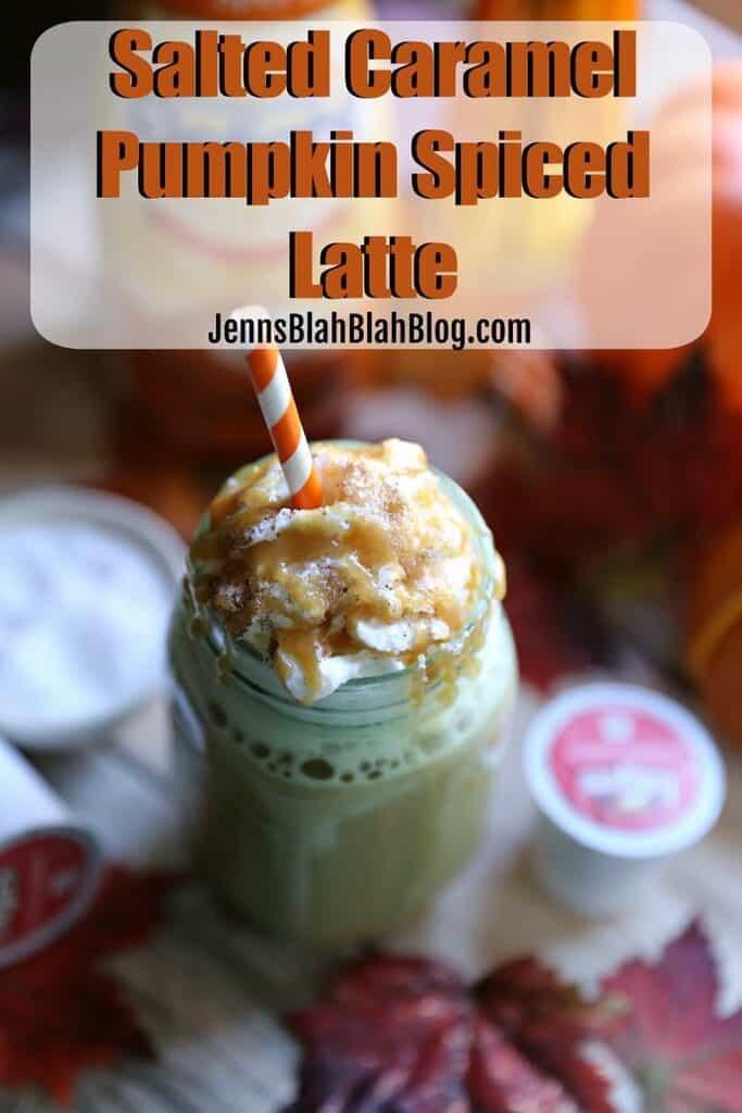 Salted Caramel Pumpkin Pie Spiced Latte | Jenns Blah Blah ...