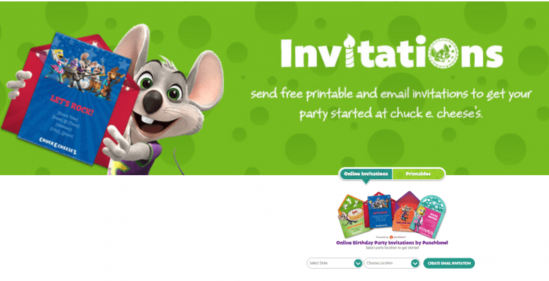 Create Your Own FUNdraiser at Chuck E. Cheese's 2