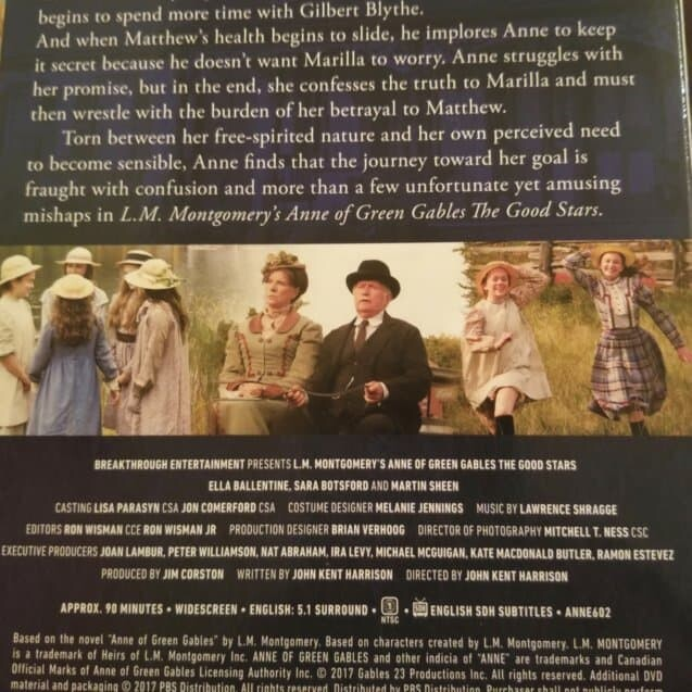 PBS L.M. Montgomery's Anne of Green Gables the Good Stars DVD Review #GiftGuide 3