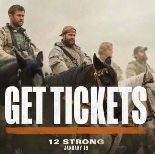 Win a $50 Fandango Gift Card to see the movie 12 STRONG and a 12 Strong Sweatshirt Giveaway 5