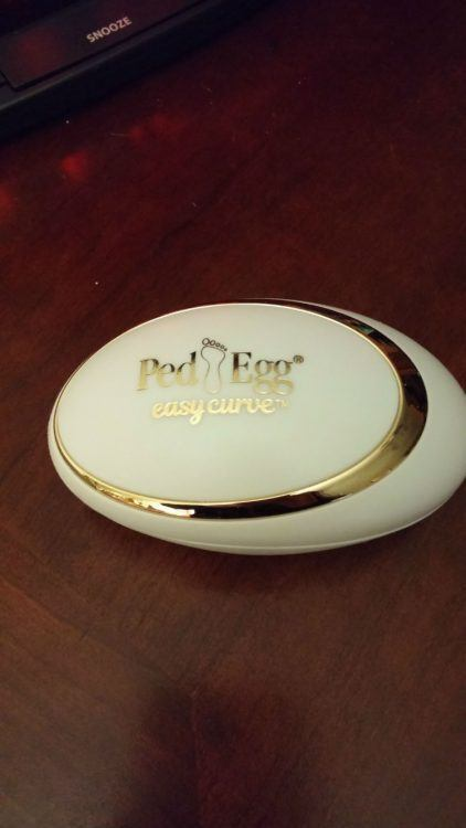 Gently Remove Callused, Dry Skin with a PedEgg® Easy Curve™ from BulbHead 3