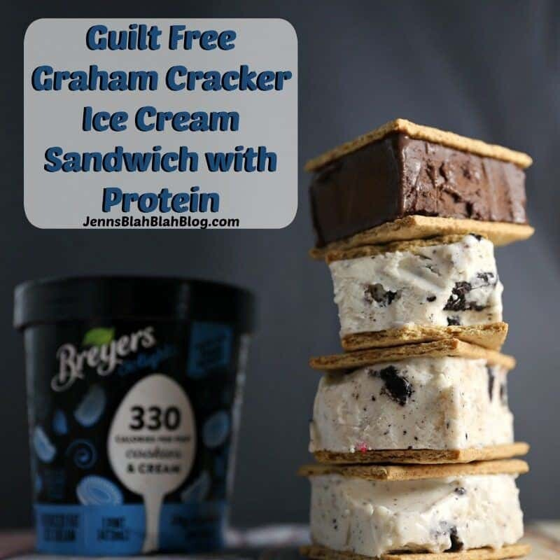 Guilt Free Graham Cracker Ice Cream Sandwich with Protein