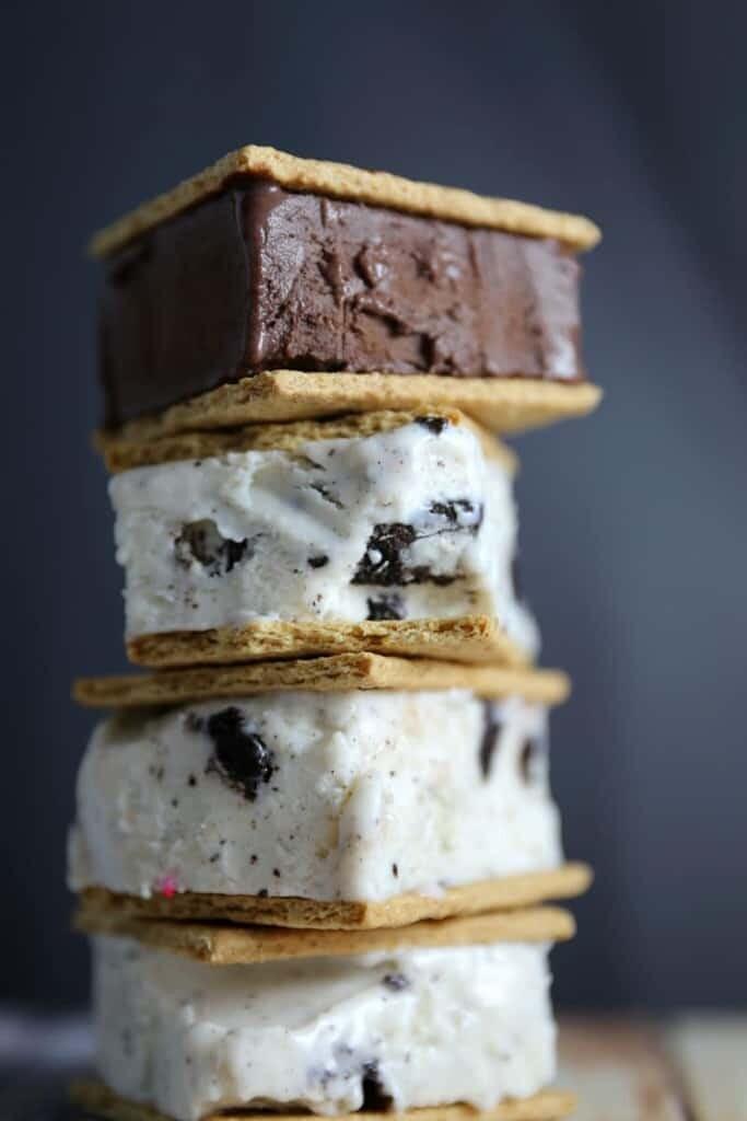 Guilt Free Graham Cracker Ice Cream Sandwich with Protein