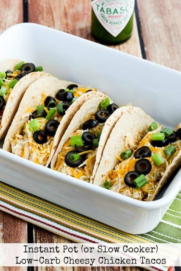 Instant Pot Low Cab Cheesy Chicken Tacos