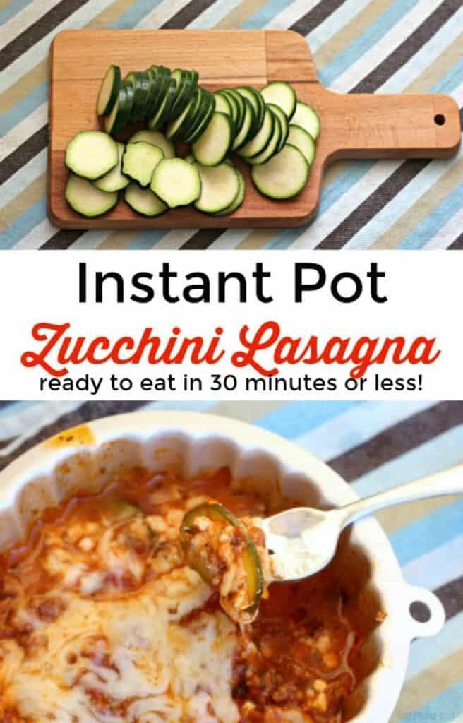 Instant Pot Zucchini Lasagna