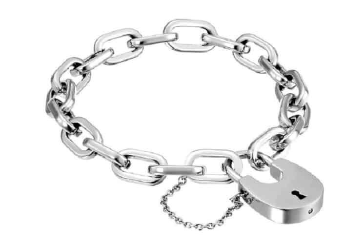 Michael Kors Women's Chain Link Padlock Bracelet – Silver Tone Stainless Steel