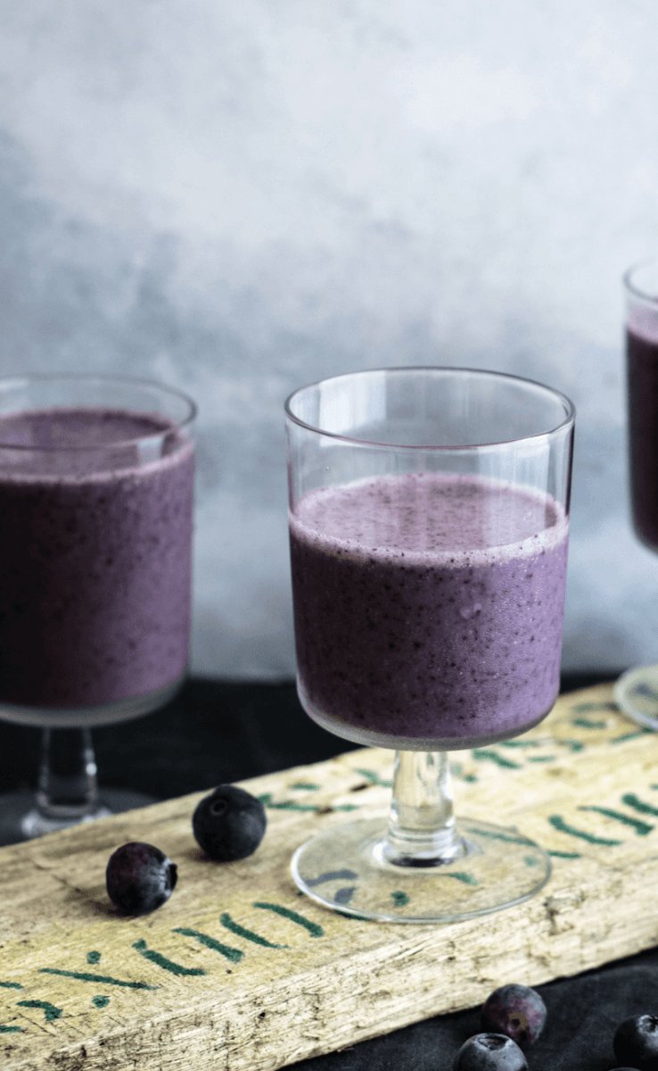 Blueberry Hemp Oil Smoothie Recipe