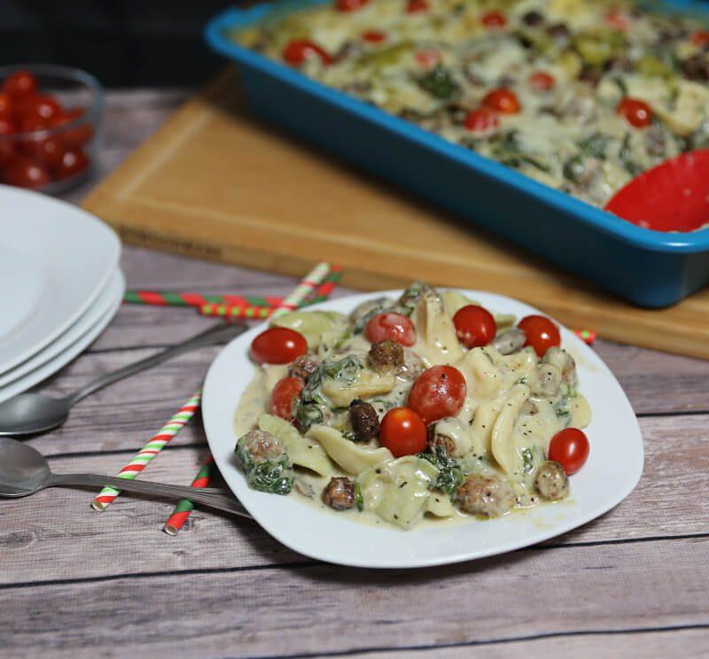Creamy Sausage Pesto Tortellini Recipe