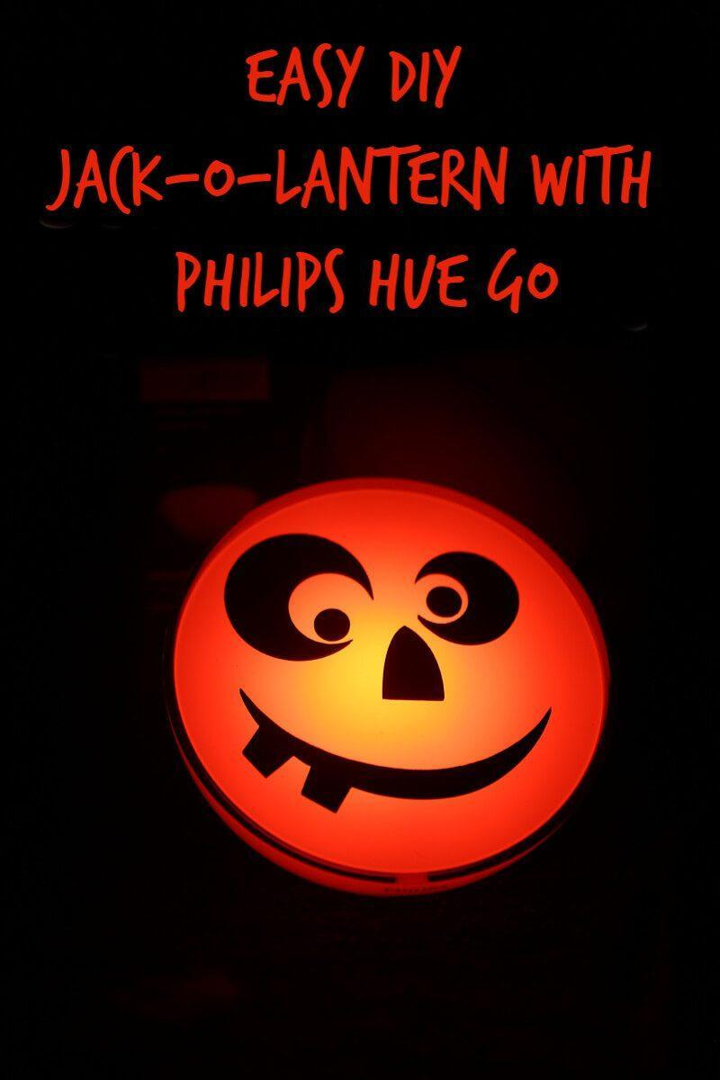 Easy DIY Jack-o-lantern with philips hue g