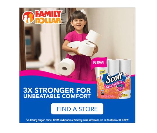 Scott ComfortPlus 12 ct. Big Roll at Family Dollar