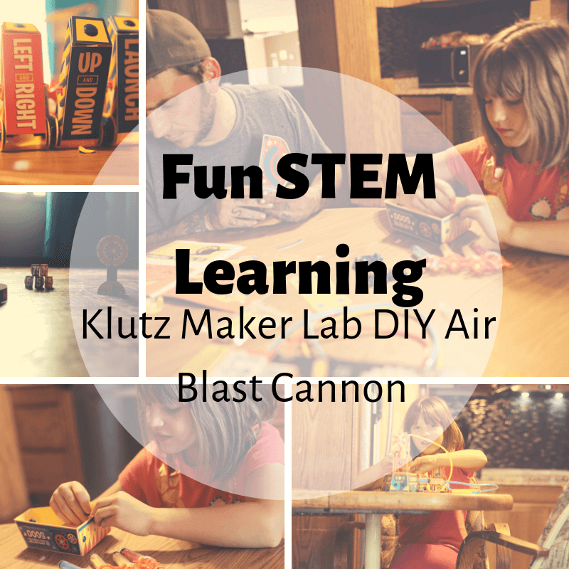 Fun STEM Learning with the Klutz Maker Lab DIY Air Blast Cannon