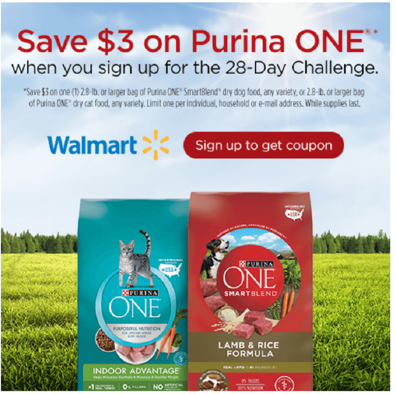 Sign Up for the 28-Day Challenge & Save on Purina ONE® 1