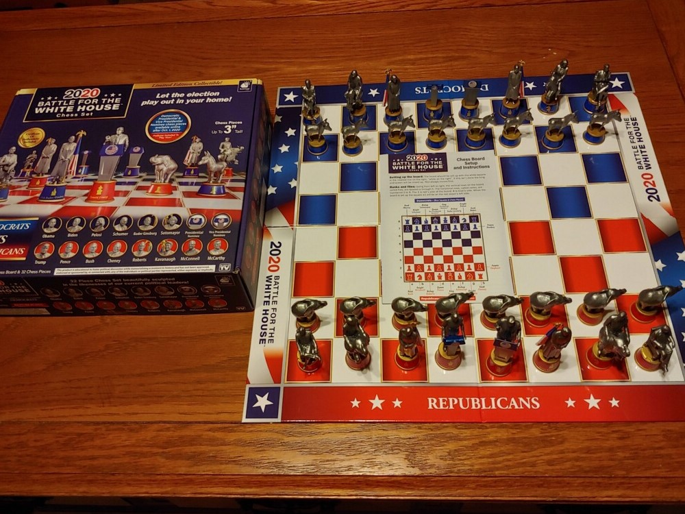 BATTLE for the WHITE HOUSE – 2020 CHESS SET 3