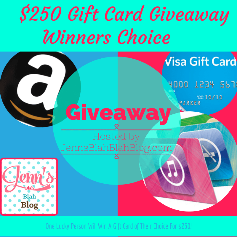 We appreciate our readers so much that we are hosting a $250 Gift Card Giveaway of the winners choosing! Enter here for your chance to win a $250 Gift Card!