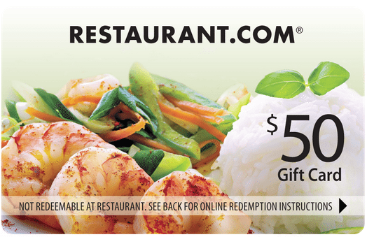 $50 Restaurant.com Gift Card Giveaway