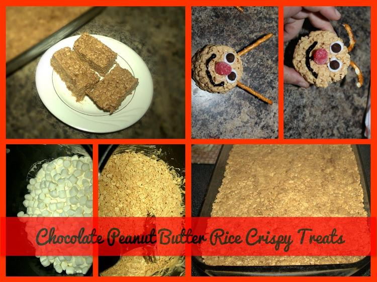 Chocolate Peanut Butter Rice Crispy Treats fun with the kids #BunnyTrail Easter Ideas: Fun Easter Basket Ideas For Kids