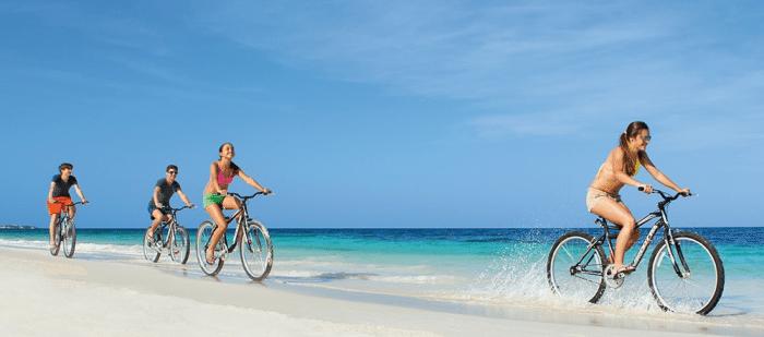 DREAMS PALM BEACH PUNTA CANA Riding Bikes On The Beach