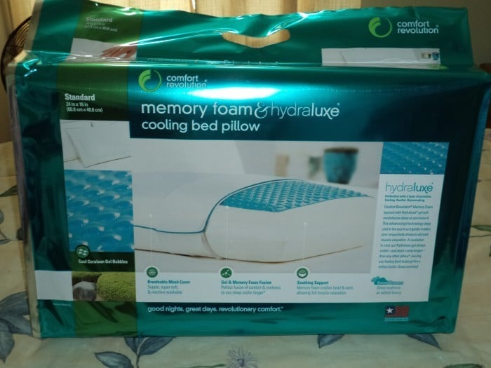 Comfort Revolution Cool Hydraluxe Bed Pillow Bed