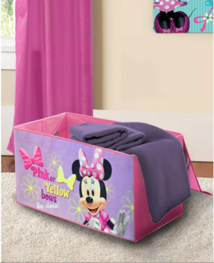 Disney Minnie Mouse Collapsible Storage Trunk1 Decorate Your Toddlers Room With Disney, Plus 3 Must Have Baby Items