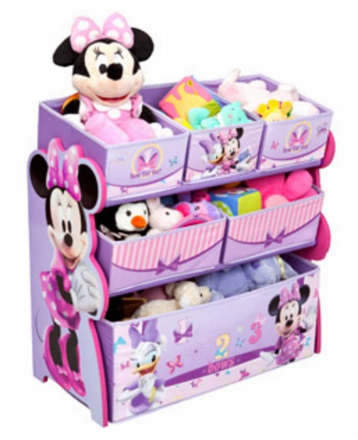 Disney Multi Bin Toy Organizer Minnie Mouse Decorate Your Toddlers Room With Disney, Plus 3 Must Have Baby Items
