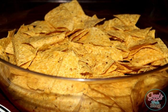 chips in a bowl for taco salad