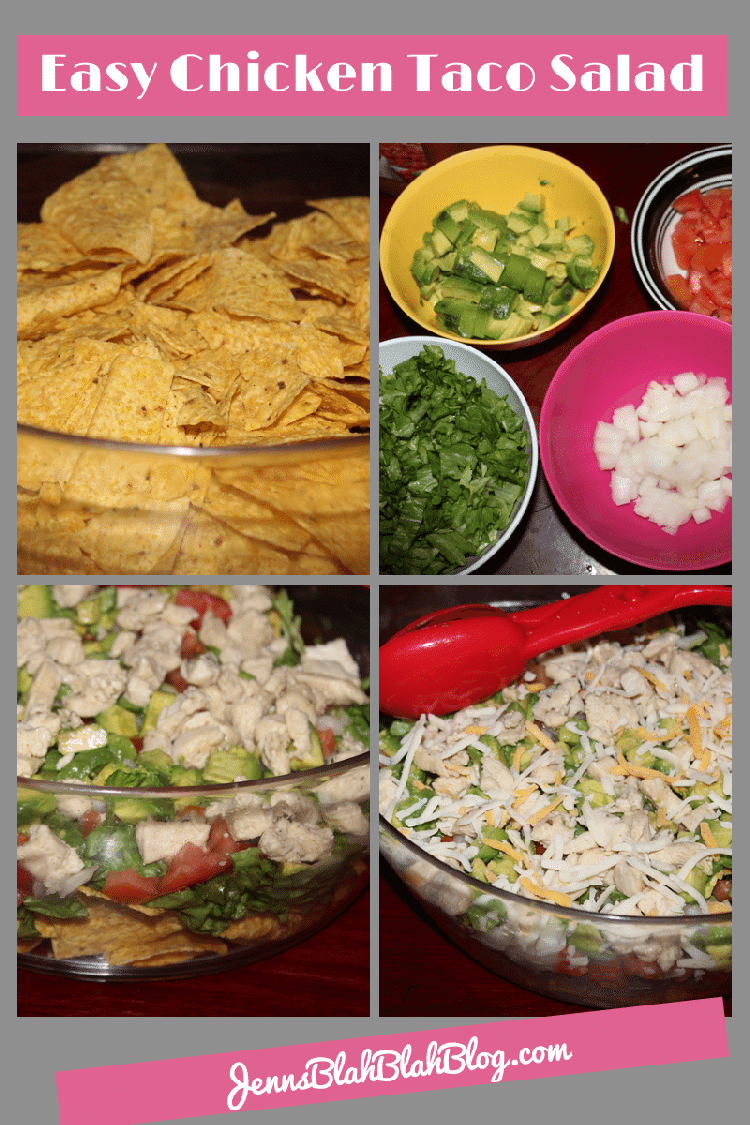 Easy Chicken Taco Salad1 Want Easy Dinners Ideas? Try This Easy Chicken Taco Salad Recipe!
