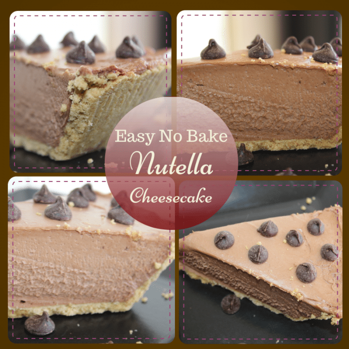 Easy No Bake Nutella Cheesecake Recipe 700x700 Super Easy Nutella No Bake Cheesecake Recipe