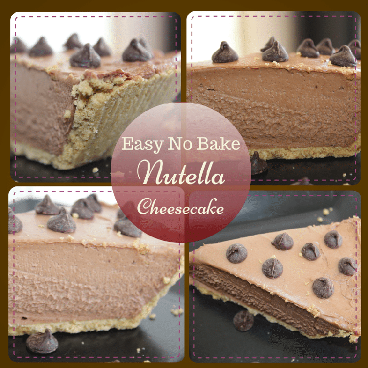 Easy, No-Bake Nutella Cheesecake Recipe