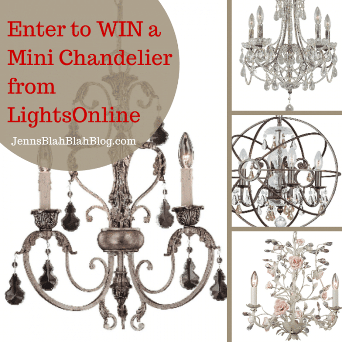 Enter to WIN a Mini Chandelier from