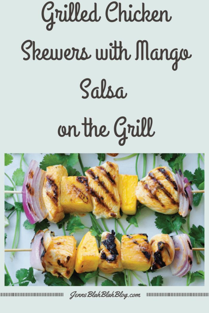 Grilled Chicken Skewers with Mango Salsa Grill Recipe
