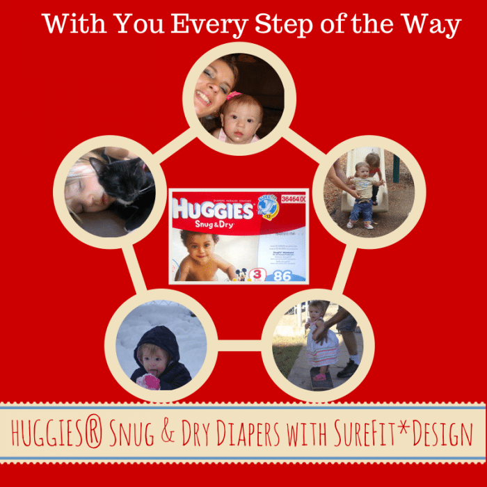HUGGIES® Snug & Dry Diapers with You every step of the way