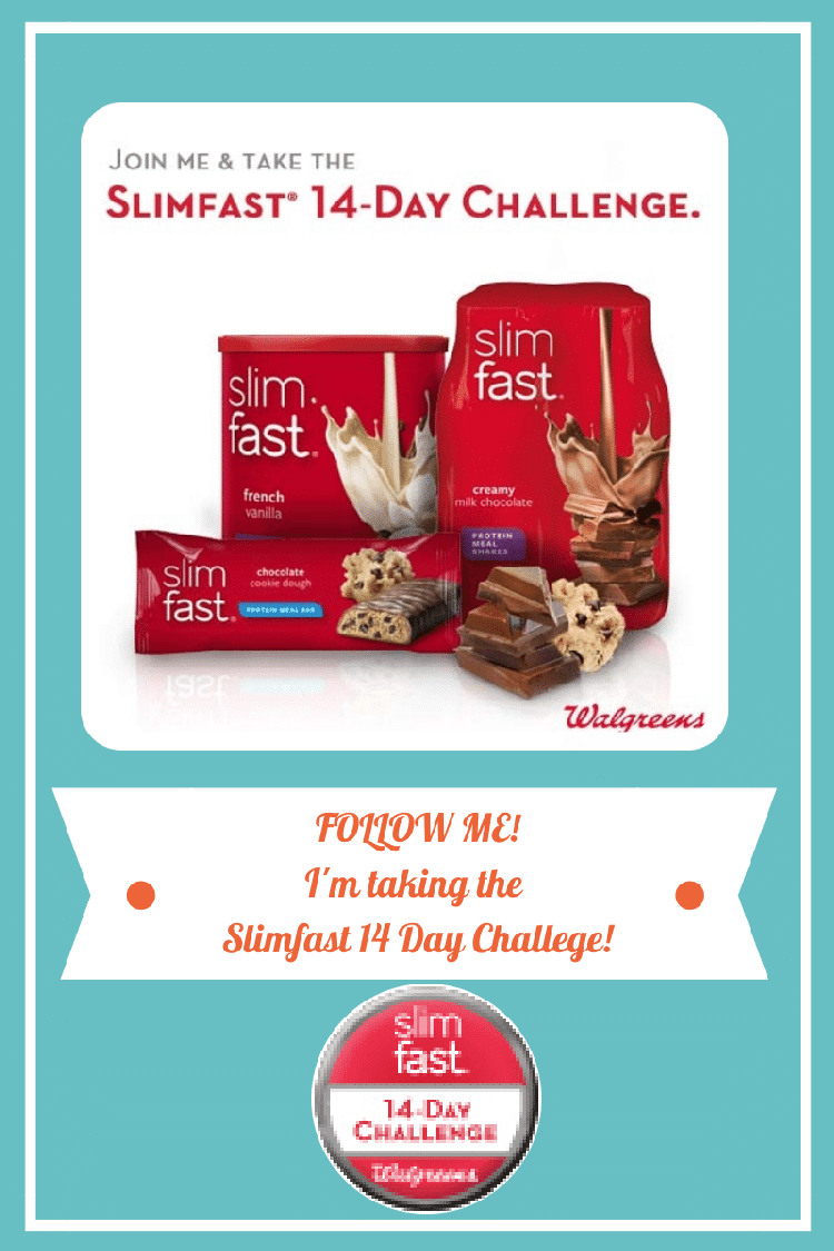 I am taking the slimfast 14 day challenge