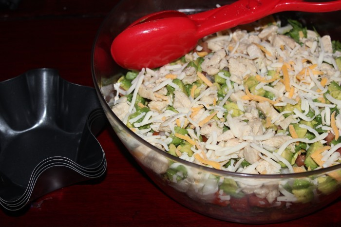 IMG 4877 700x466 Want Easy Dinners Ideas? Try This Easy Chicken Taco Salad Recipe!