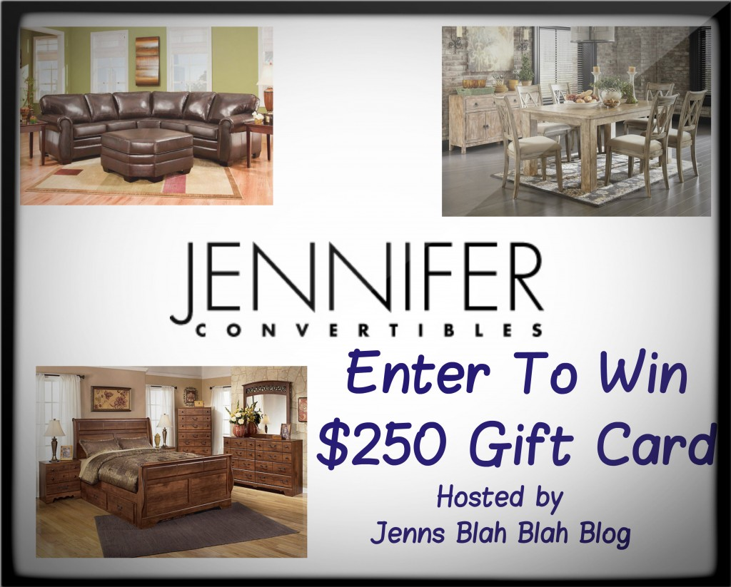 Jennifer Convertibles Gift Card Giveaway