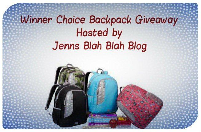 Jenns Blah Blah Blog Backpack Giveaway