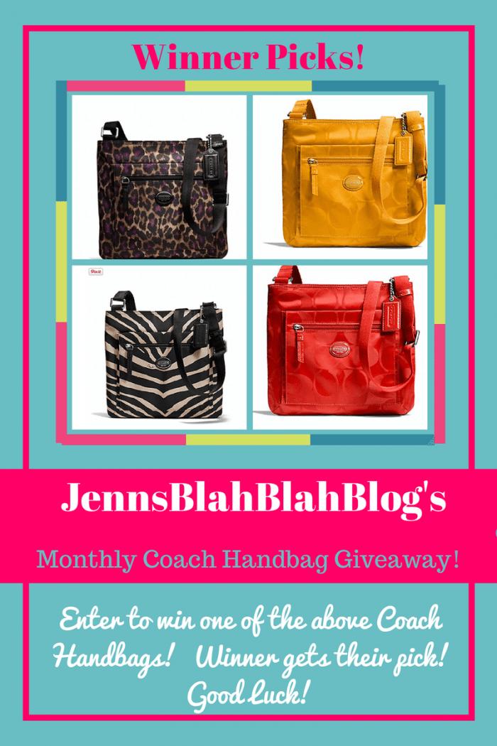 Coach Handbag Giveaway Jenns Blah Blah Blog