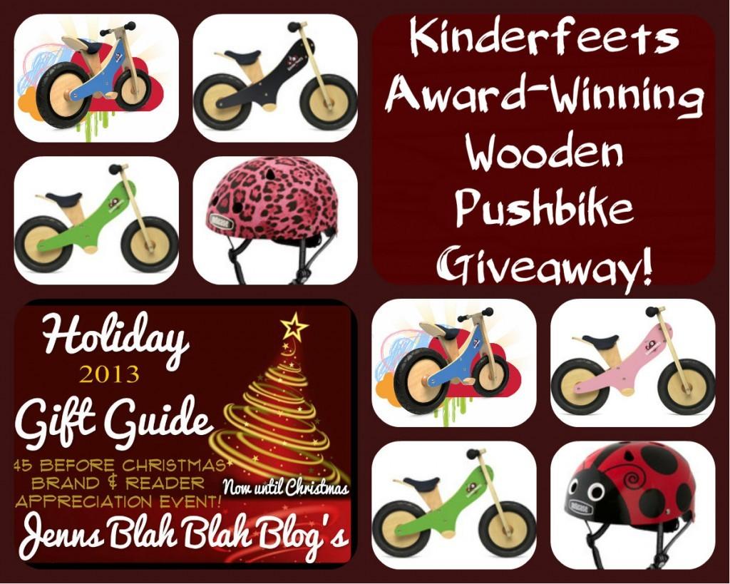 Kinderfeets Award-Winning Wooden Pushbike Giveaway!