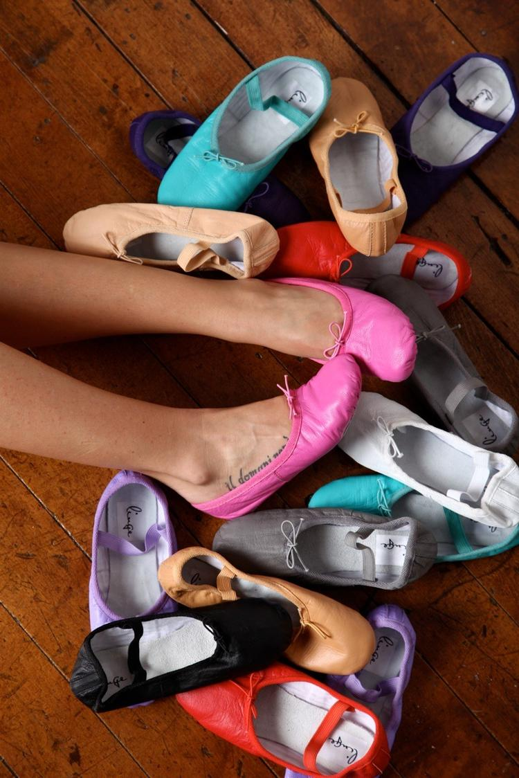 different colors of ballet shoes that are soo Comfortable