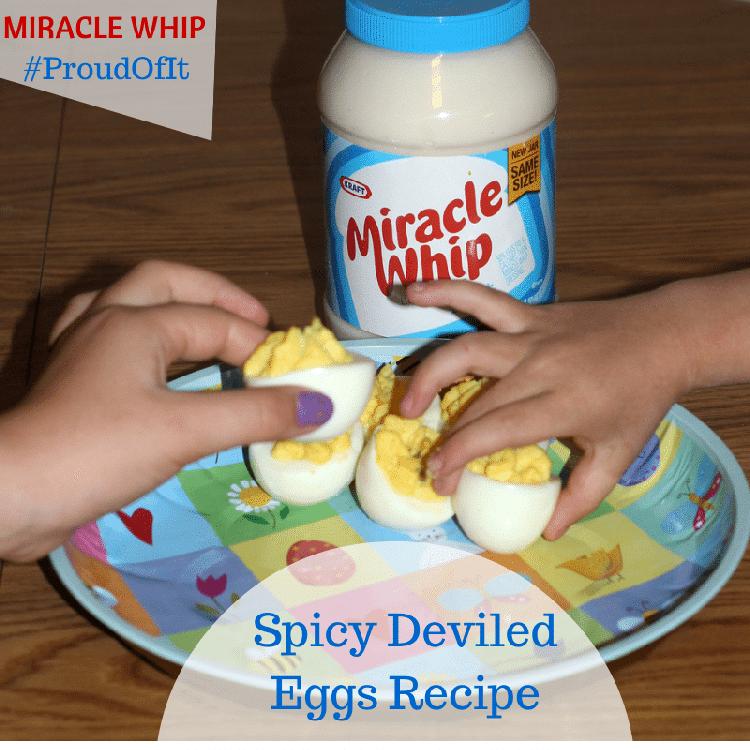 Spicy Deviled Eggs Recipe #ProudOfIt