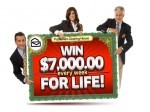 """Publishers Clearing House Sweepstakes """"Win $7000 A Week For Life"""""""